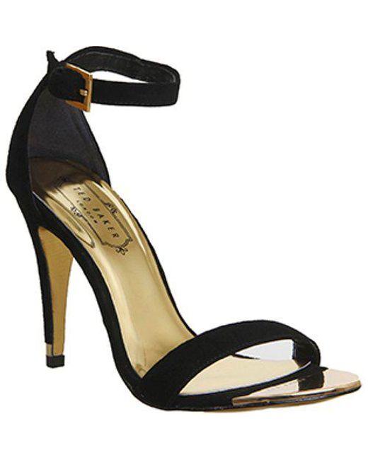 756f24c134928f Ted Baker Juliennas 2 Strappy Heel in Black - Lyst