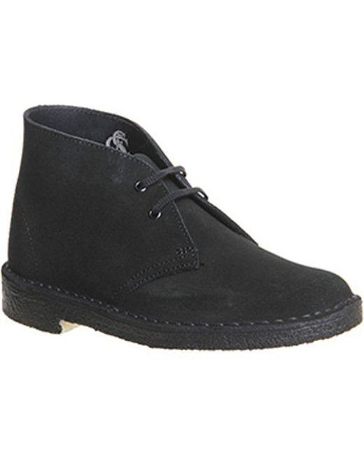 Clarks Desert Boot Oakwood Suede 2 Women S Lace Up Boots In Black