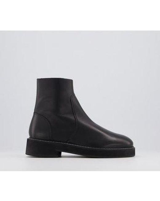 Office Black Align Smooth Sole Ankle Boots