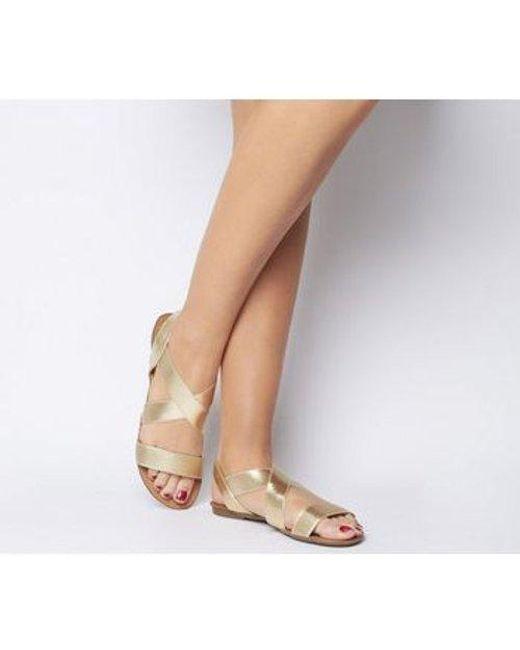 fca3d8b428e5 Lyst - Office Orbit Elastic Strap Sandal in Brown