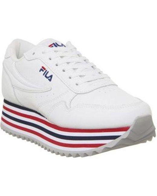 Orbit Zeppa White Stripe Sole Sneakers - Womens Uk 5