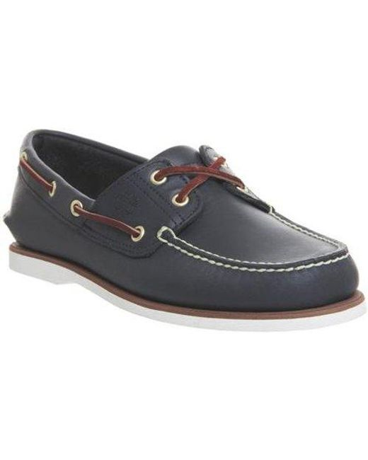 Timberland Blue New Boat Shoe for men