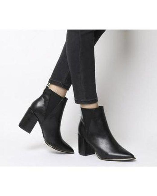 Office Black Aromatic Block Heel Boots