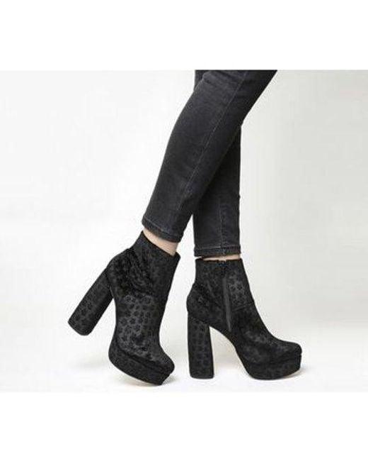 964e493a1de Women's Black Abbey Road Mega Platform Boot