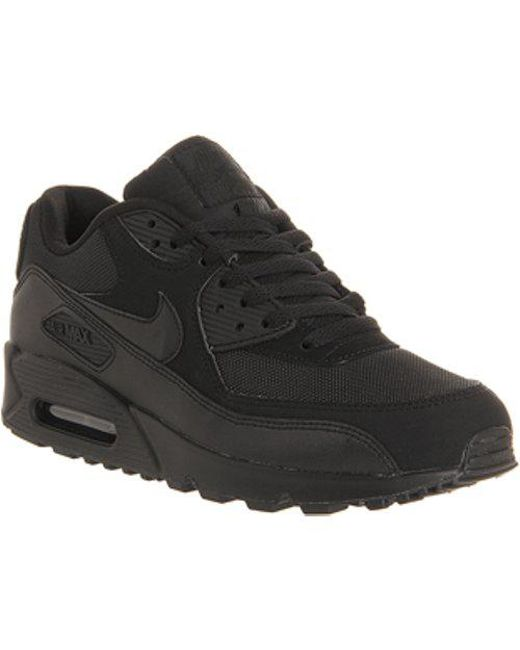 cac2615f9615b Nike Air Max 90 Leather Trainers in Black for Men - Save 10% - Lyst