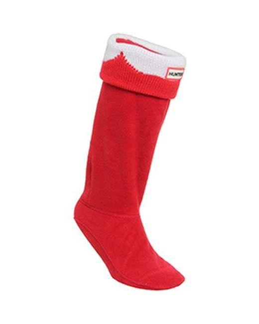 Hunter - Red Moustache Boots Sock for Men - Lyst