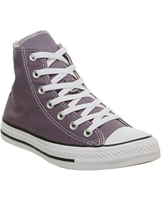 Lyst - Converse All Star Hi in Purple for Men 8916be90d