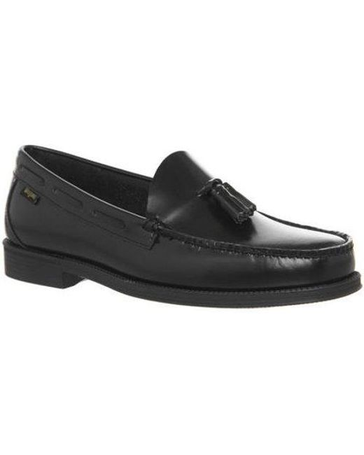 G.H.BASS Black & Co Easy Weejun Tassel Loafers for men