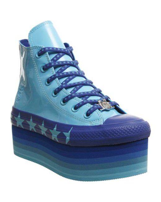 91a4bd72341 Lyst - Converse All Star Lift Hi X Mc in Blue - Save 49%