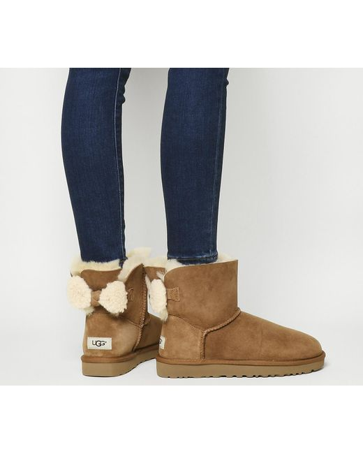 Ugg   Brown Arielle Bow Boots   Lyst