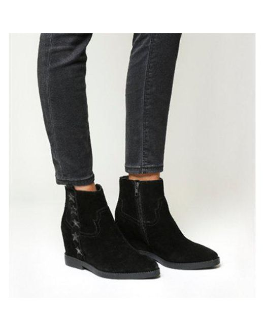 Ash - Black Goldie Wedge Boot - Lyst