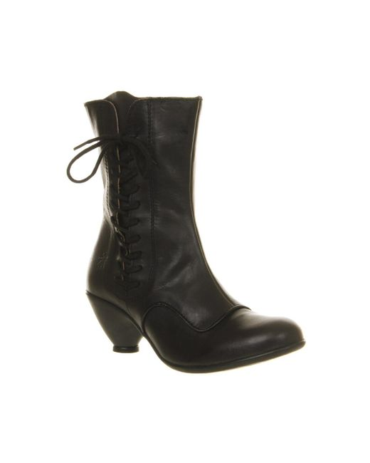 Fly London | Black Phal Lace Up Boots | Lyst
