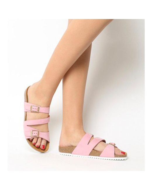 91695867cafb Office Bounty Cross Strap Footbed in Pink - Lyst