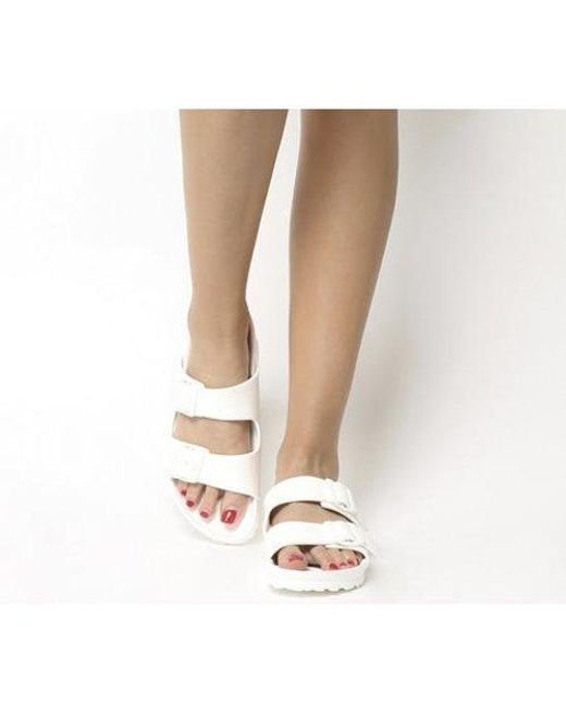 Arizona Eva Sandals in White