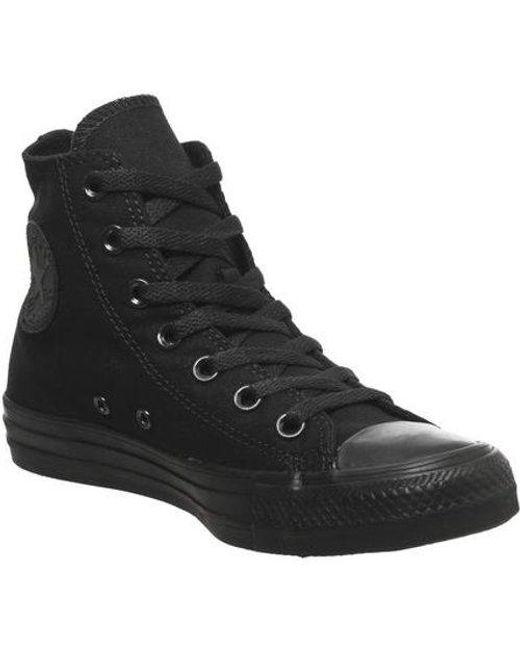 Converse Black All Star Hi for men