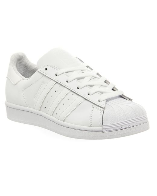 Adidas Originals | White Superstar Foundation Leather Sneakers | Lyst