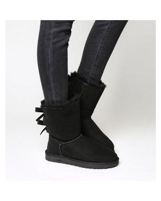 black ugg boots with bows