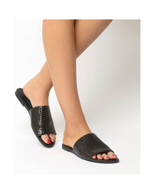 db89fc55c7 Vagabond Tia Woven Sandal in Black - Lyst