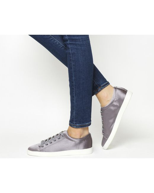 Office   Gray Penelope Lace Up Trainers   Lyst