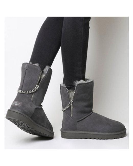 Short Exclusive Lyst Sparkle Ugg In Classic Gray Zip xnFwT
