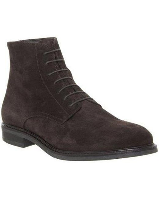 Office Brown Insect Lace Boot E for men