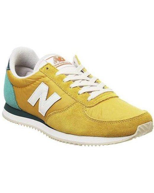 new balance u220 yellow