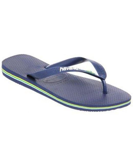 abb06147839 Lyst - Havaianas Brasil Logo in Blue for Men - Save 32%