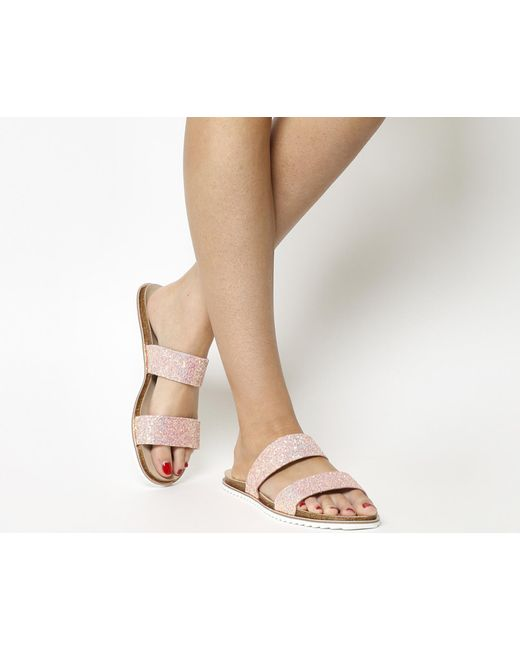 Office | Pink Sicily Double Strap Sandals | Lyst