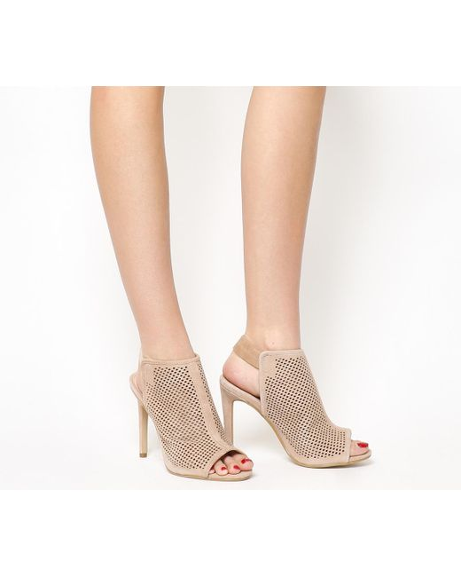 Office | Brown Teagan Perforated Slingback Shoe Boots | Lyst
