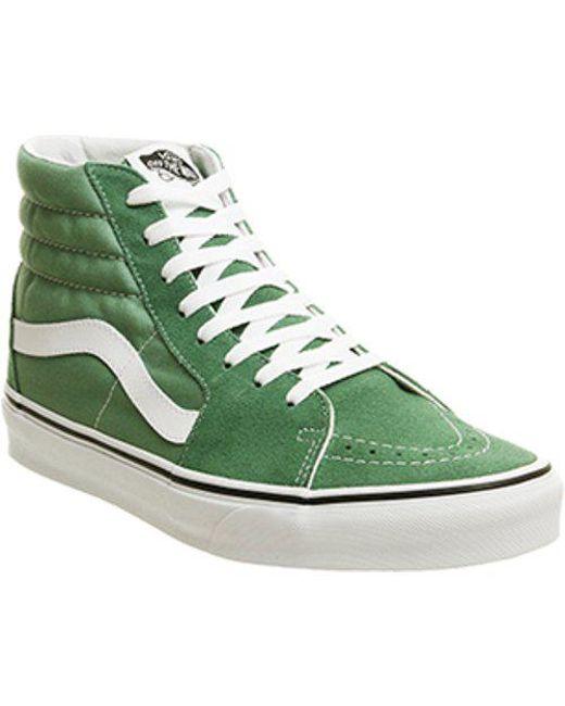 c67cbf516edeb9 Vans Sk8 Hi in Green for Men - Lyst