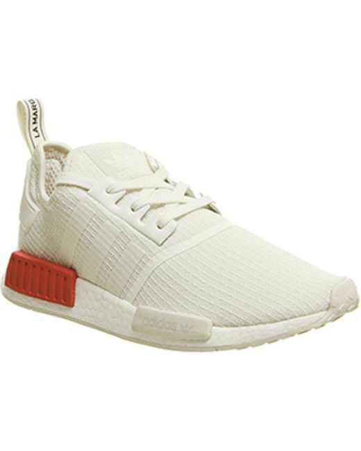 db8835c208615 Adidas Nmd R1 in White for Men - Lyst
