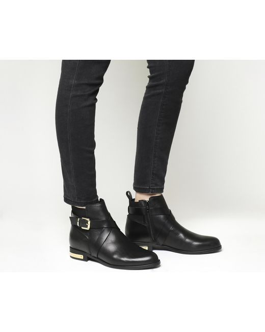 Office   Black Archer Strap Detail Boots   Lyst