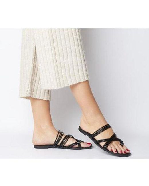 Office Black O-snazzy- Strippy Sandal