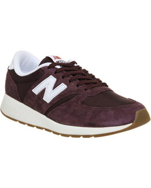 Mens New Balance Mrl420 BURGUNDY SUEDE MESH Trainers Shoes