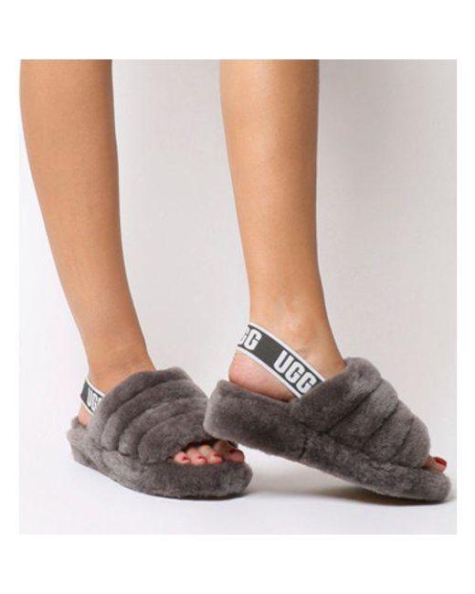 UGG Fluff Yeah Slide (pink Dawn) Women s Slippers in Gray - Save 36 ... 2da503215