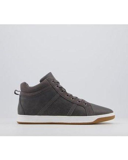 Office Gray Clyde Mid Casual Trainers for men