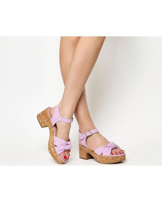 Office | Purple Magnolia Flatform Sandals | Lyst