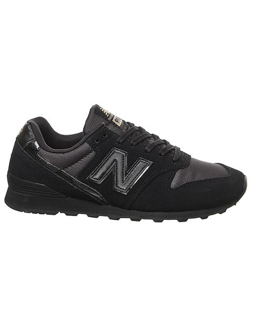 New Balance Suede 996 Trainers in Black Gold (Black) Lyst