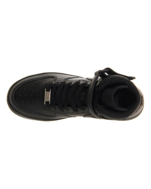 Nike Air Top Force Mid '07 Leather High Top Air Zapatillas En Color Negro Ahorra 61 d32cb1