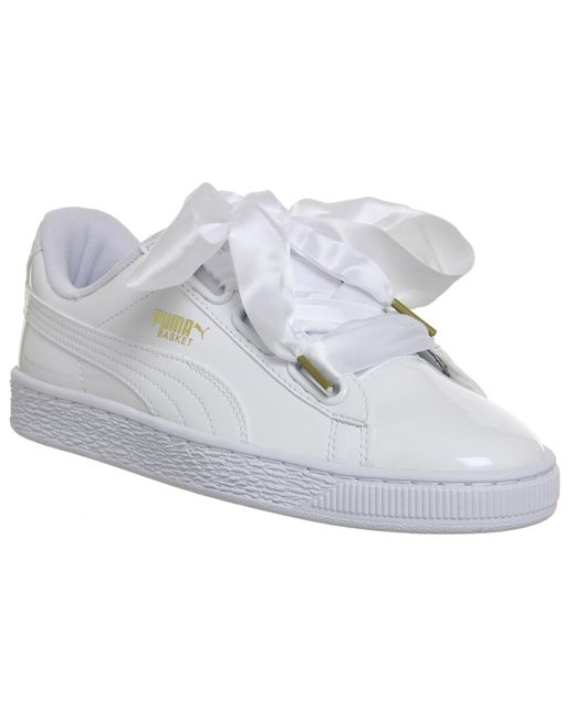 puma basket heart baby