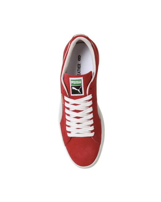 ... PUMA - Red Suede Classic Trainers for Men - Lyst ... 33259a01a