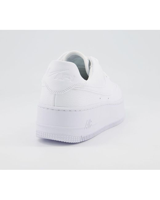 Nike White Air Force 1 Sage Trainers
