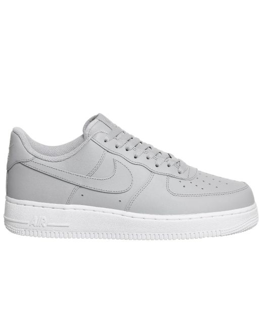 Nike Gray Air Force 1 07 Men's Shoes (trainers) In Grey for Men Lyst