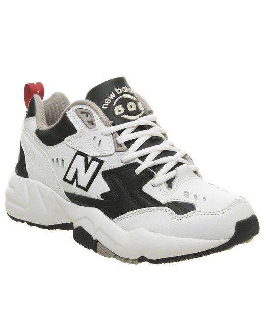 New Balance White 608 Trainers