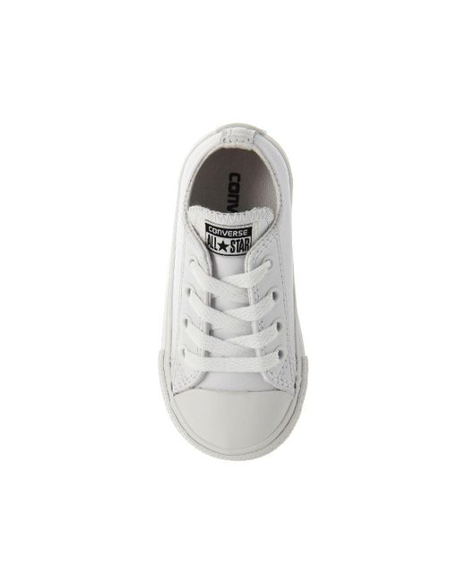 43c9ba841d61 ... Converse - White All Star Ox Leather Infant for Men - Lyst ...