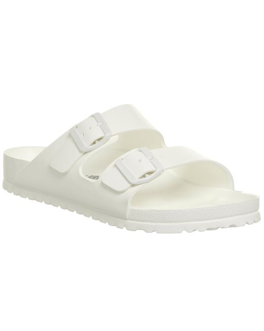 Birkenstock - White Arizona Two Strap Sandals - Lyst