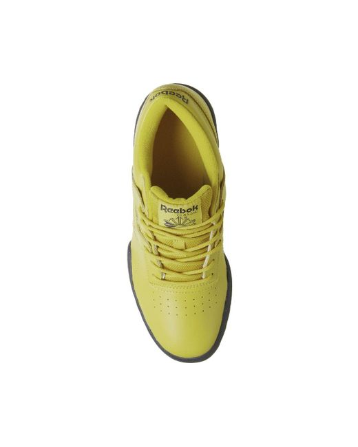 64d93fd148804 ... Reebok - Yellow Workout Ripple Trainers for Men - Lyst ...