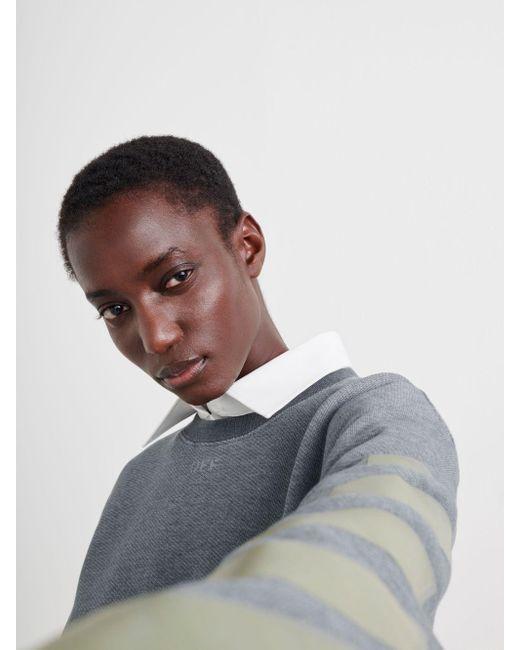 Off-White c/o Virgil Abloh ロゴ スウェットシャツ Gray