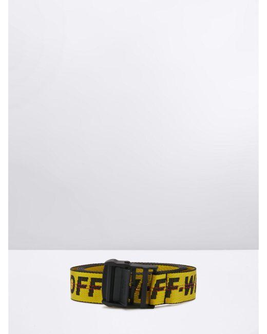 Off-White c/o Virgil Abloh ロゴ ベルト Yellow