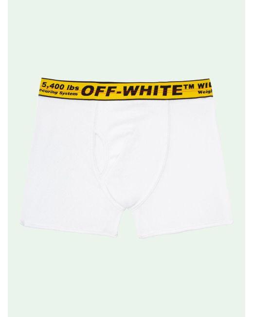 Pack de tres bóxeres con franja Industrial Off-White c/o Virgil Abloh de hombre de color White